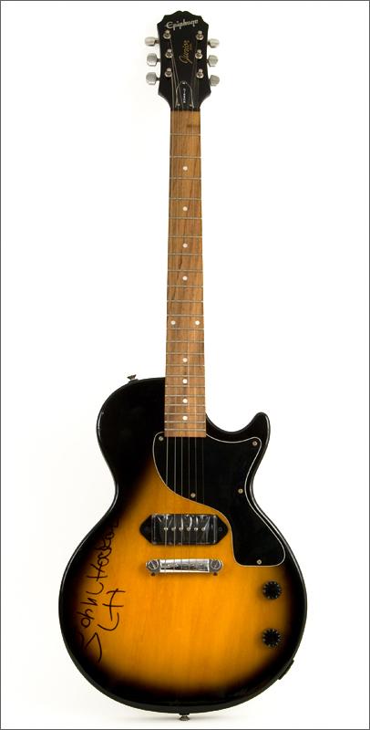 lot detail john lee hooker signed guitar and signed check. Black Bedroom Furniture Sets. Home Design Ideas