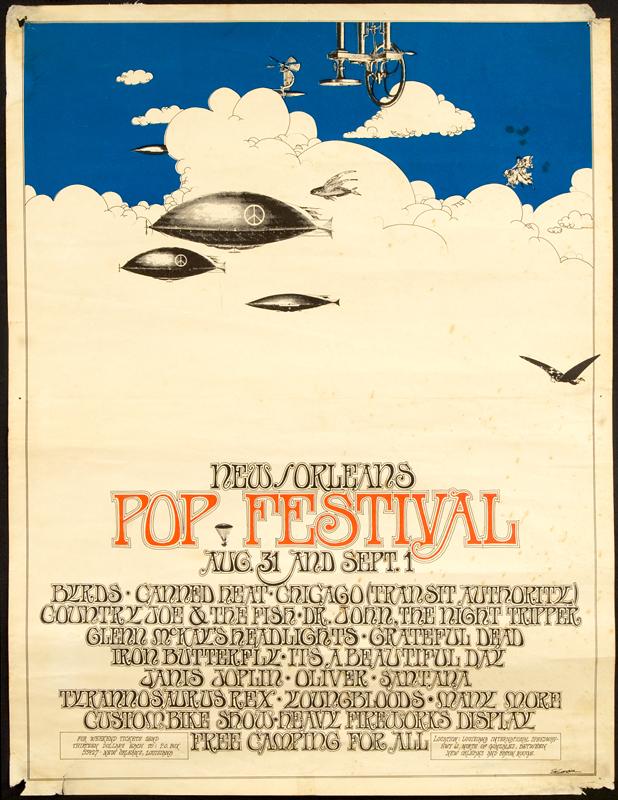 Lot Detail 1969 New Orleans Pop Festival Poster