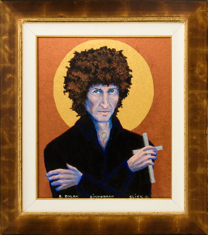 lot detail bob dylan painting by grace slick