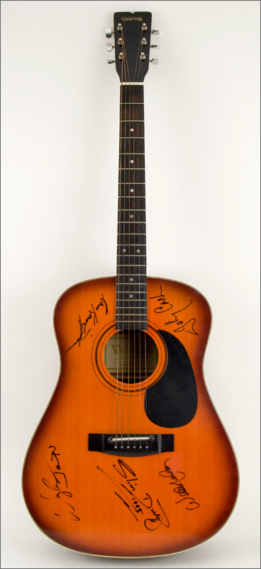 Lot Detail - The Highwaymen and Slim Dusty Signed Acoustic ...