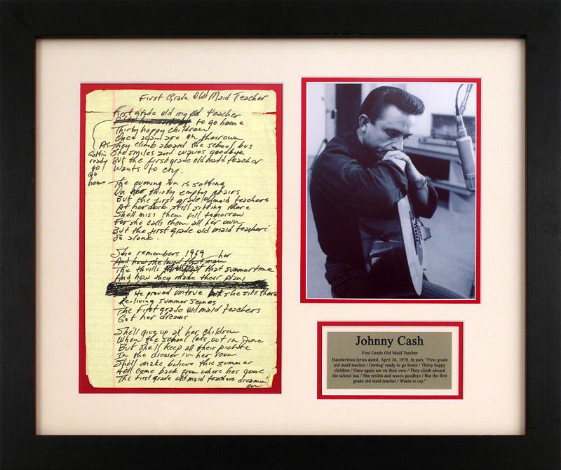 Lot Detail - Johnny Cash Handwritten