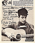 "Bob Dylan Signed and Inscribed ""Folk Song Magazine"" With ""Blowin in the Wind"" Lyrics"