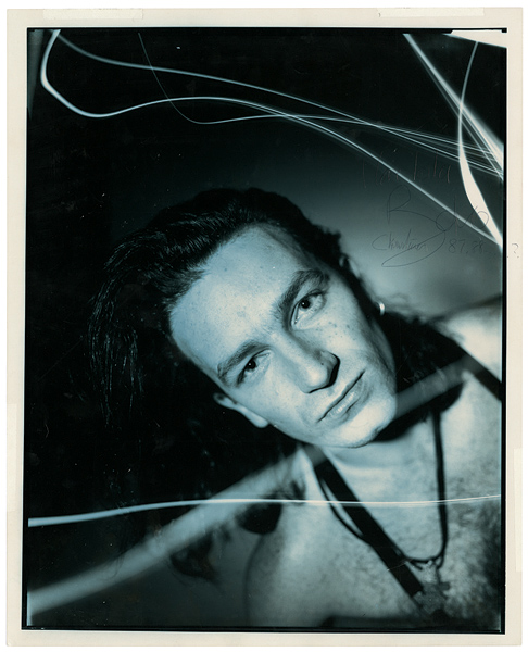 Bono Signed and Inscribed Original Photograph by Matthew Roleston