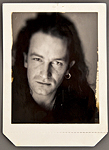Bono Original Polaroid Photograph Signed and Inscribed by Photographer Matthew Roleston on the Verso