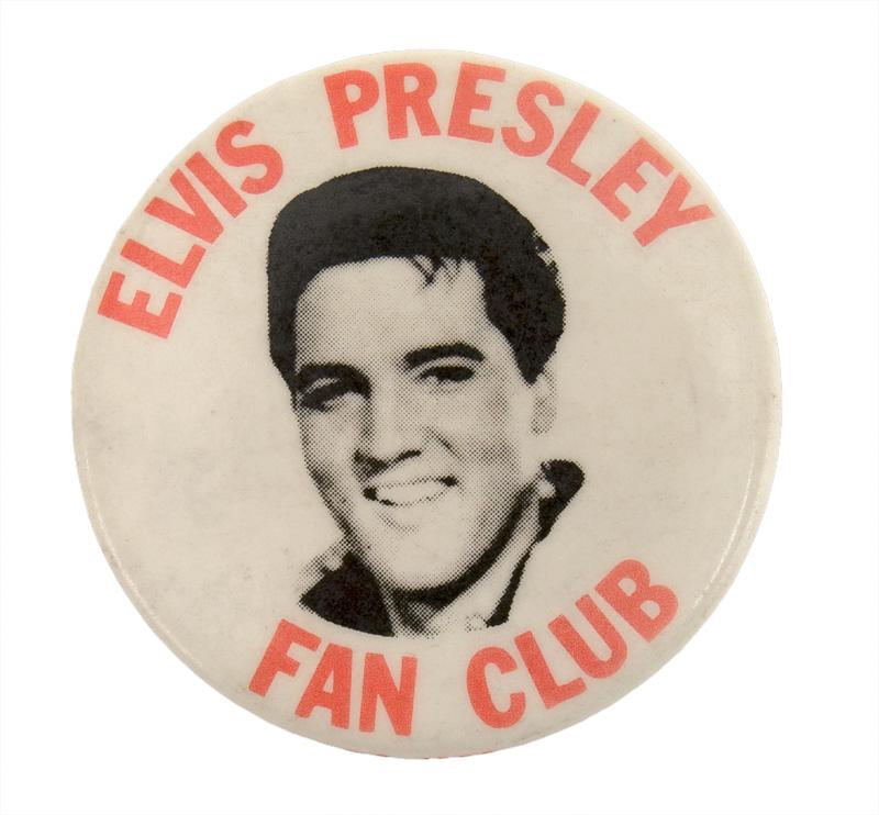 Lot Detail Elvis Presley Fan Club Pinback Photo Button