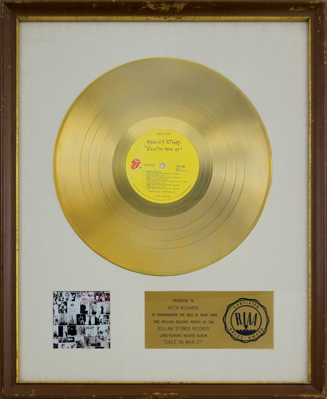 Lot Detail Rolling Stones Quot Exile On Main Street Quot Riaa