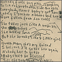 "Bob Dylan Handwritten and Signed ""Just Like A Woman"" Working Lyrics"