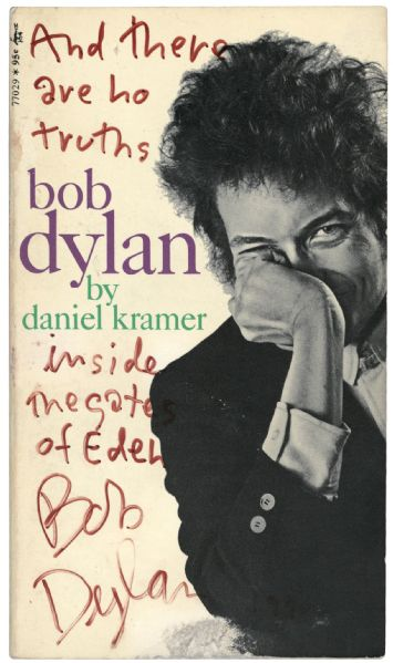 Bob Dylan Gates of Eden Signed and Inscribed Paperback Biography