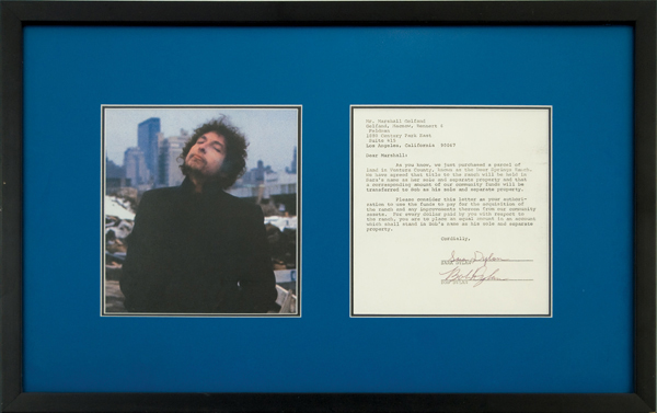 Bob Dylan Circa 1974 Signed Contract