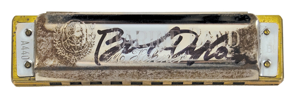 Bob Dylan Signed Stage Used Harmonica