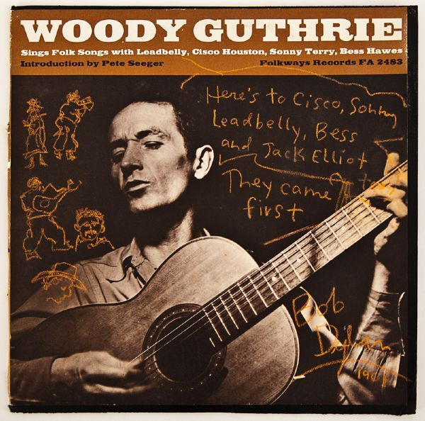 "Bob Dylan Signed and Inscribed ""Woody Guthrie"" Album"