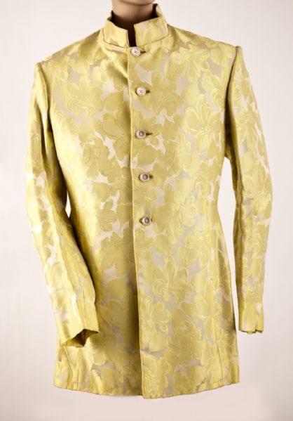 "Paul McCartney Owned and Worn Gold Brocade ""Dandie Fashions"" Jacket Circa 1967"