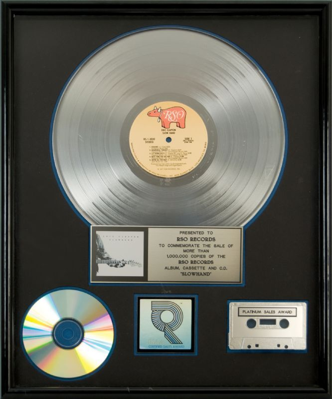 Lot Detail Eric Clapton Slow Hand Original Riaa Certified