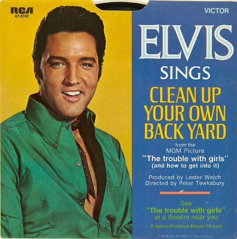 "Lot Detail - Elvis Presley ""Clean Up Your Own Back Yard ..."