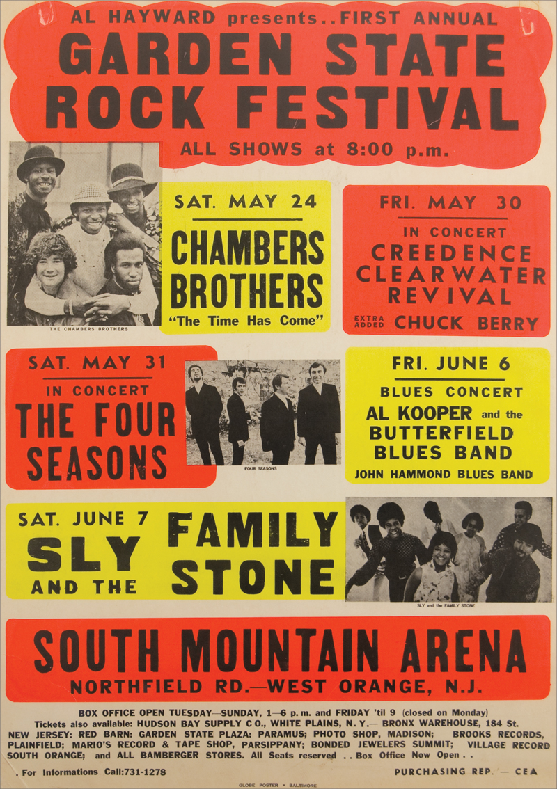 Garden State Rock Festival Vintage Boxing Style Original Poster Hover To Zoom