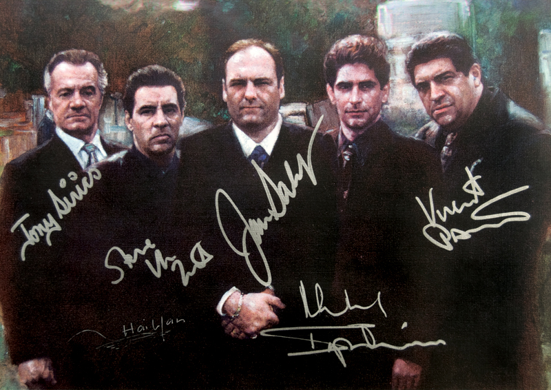 Lot detail the sopranos cast signed artist s picture