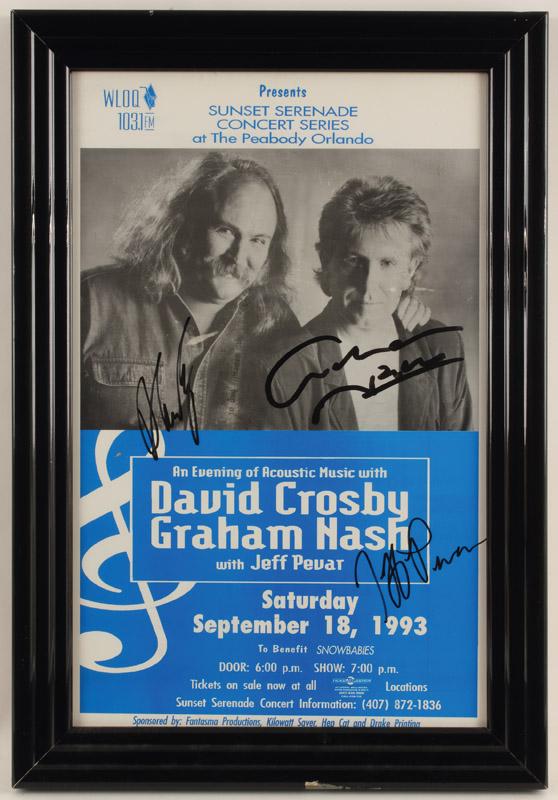 Autographed 11 x 17 poster Graham Nash