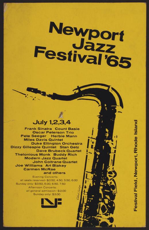 Lot Detail - Frank Sinatra & John Coltrane 1965 Vintage Concert Poster