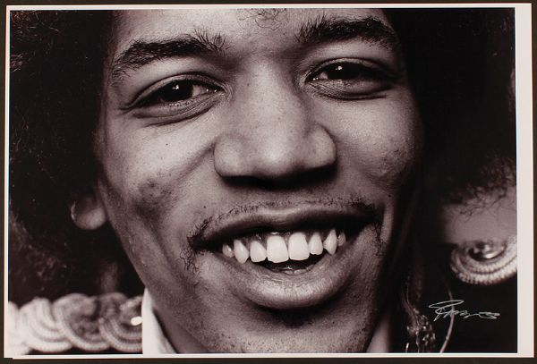 Jimi Hendrix Original Photograph Signed by Roberto Rabanne