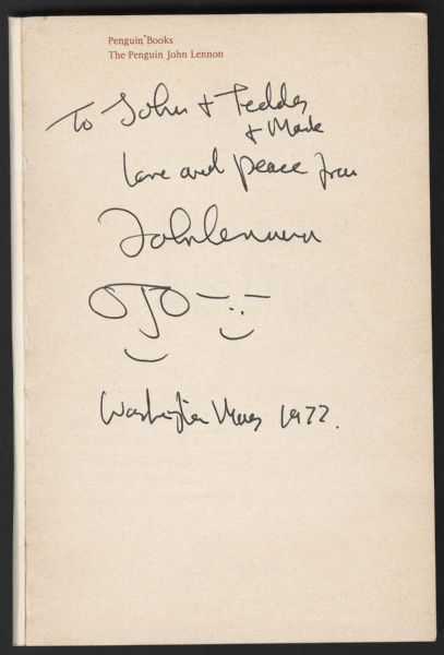 John Lennon Signed & Inscribed The Penguin With Hand-Drawn Caricatures