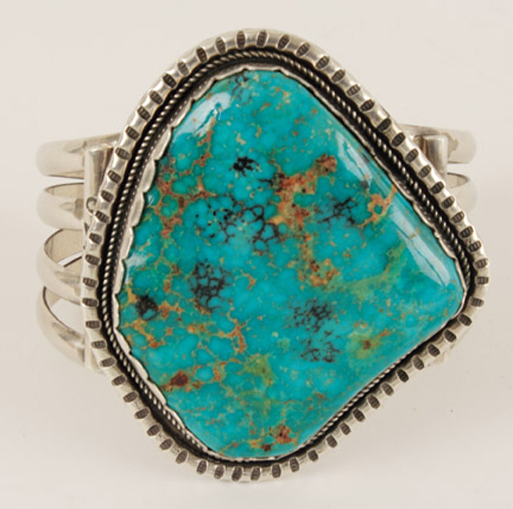 Turquoise Cuff Bracelet Hover To Zoom