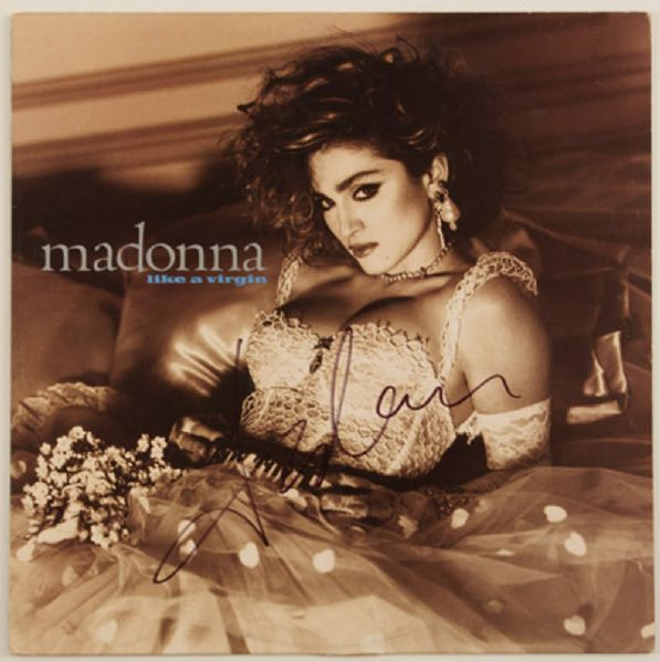 "Madonna Signed ""Like A Virgin"" Album"
