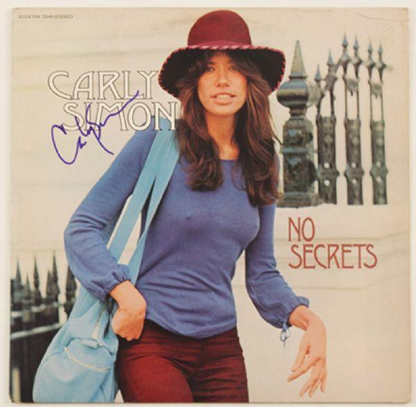 """Carly Simon Signed """"No Secrets"""" Album"""