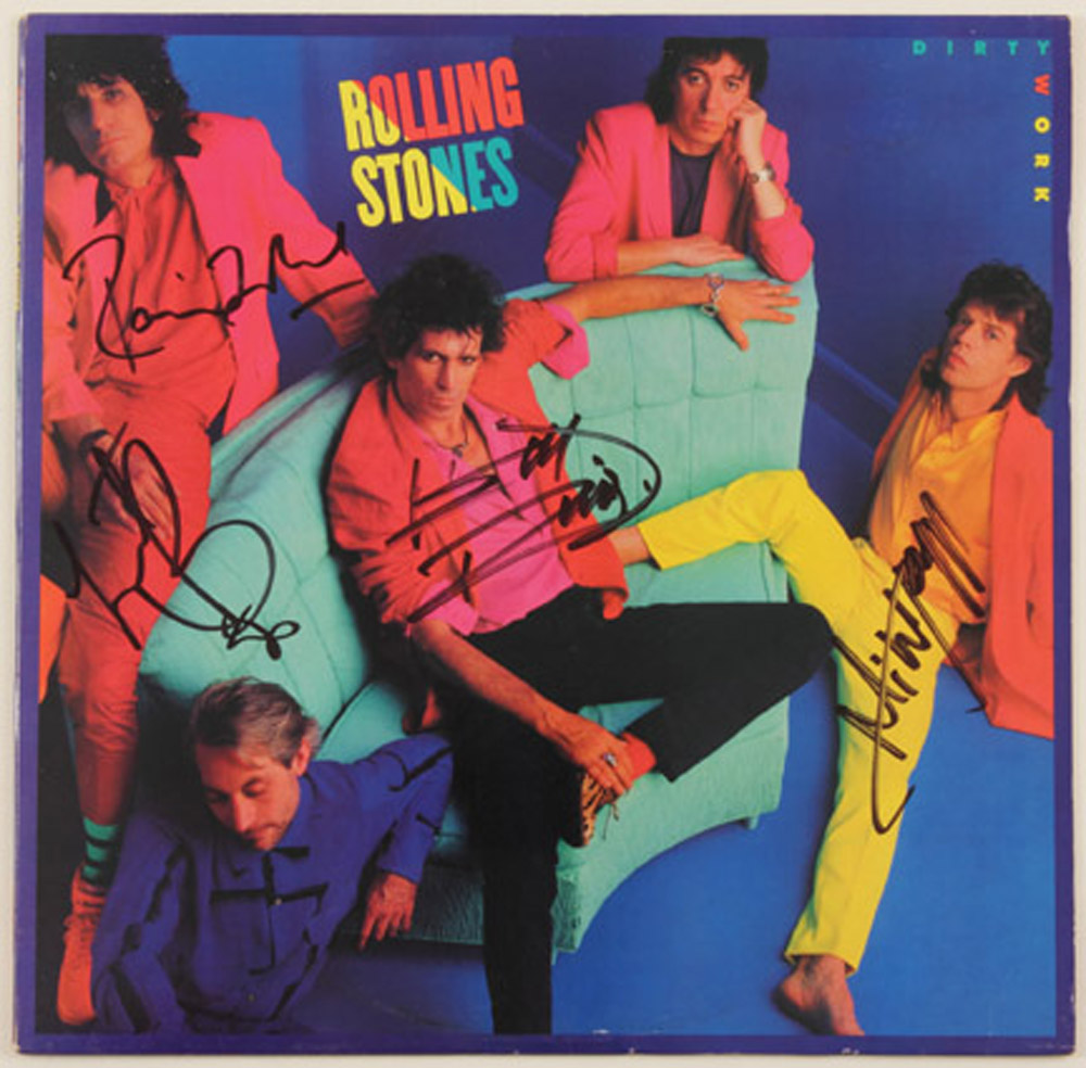 Lot Detail The Rolling Stones Signed Quot Dirty Work Quot Album