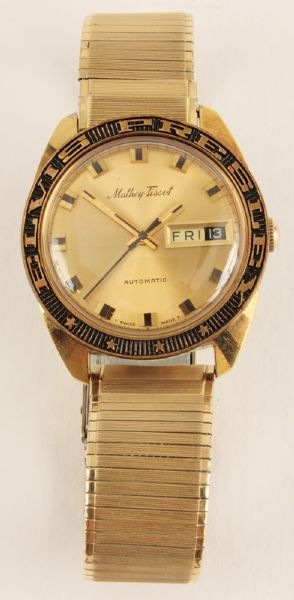 Elvis Presley Mathew Tissot Gold Watch Gifted To George Klein