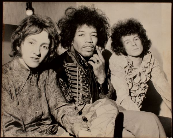 Jimi Hendrix Paul Rabanne Stamped Original Photograph