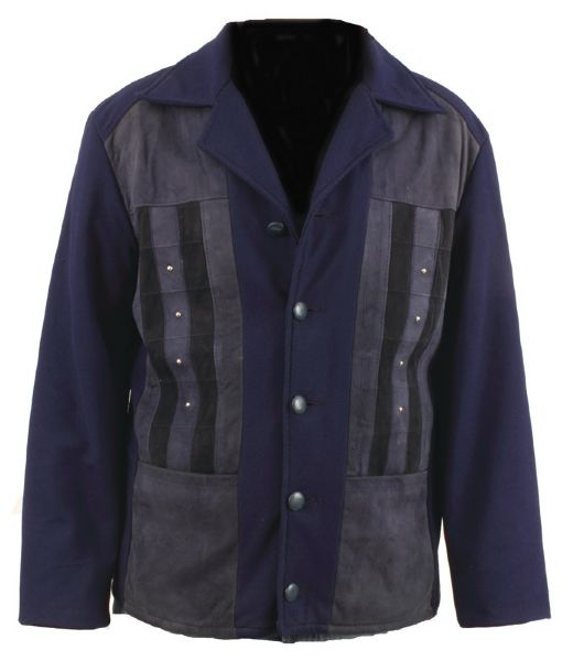 Elvis Presley Worn Blue Suede Leather Jacket