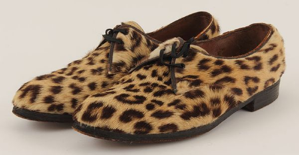 Elvis Presley 1954 Stage Worn Leopard Mohair Shoes