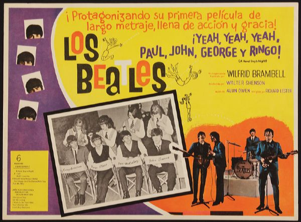 The Beatles A Hard Day's Night Original Argentinian Movie Poster