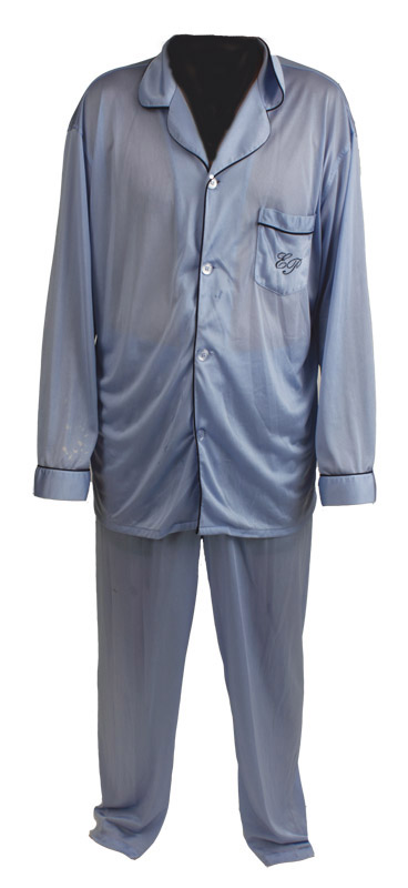 Lot Detail - Elvis Presley Worn EP Monogrammed Pajamas