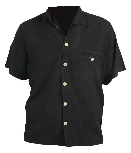 Elvis Presley Worn Black Short Sleeved Shirt