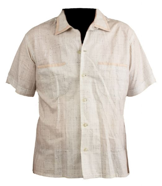 Elvis Presley Worn 1950's Cream Sport Shirt
