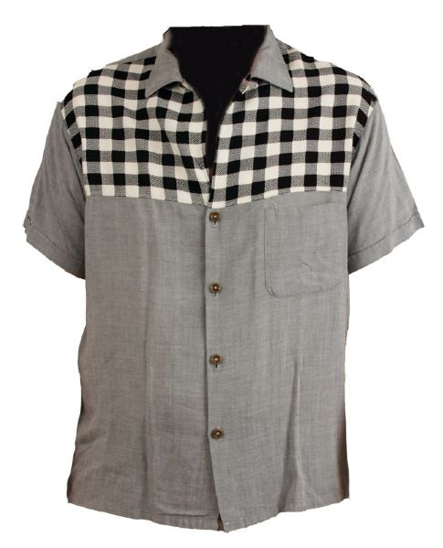 Elvis Presley Worn 1950's Black and White Checked Sport Shirt