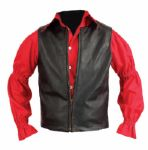 "Elvis Presley Worn ""Frankie and Johnny"" Western Costume Co. Black Leather Vest"