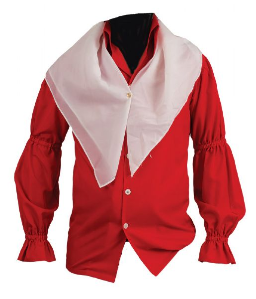Elvis Presley Elvis On Tour Movie Worn Red I.C. Costume Shirt With Scarf