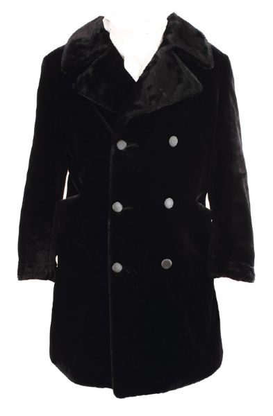 Elvis Presley Owned & Worn Black Faux Fur Coat
