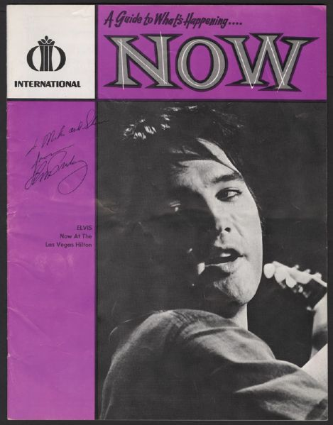 Elvis Presley Signed and Inscribed Las Vegas NOW Magazine