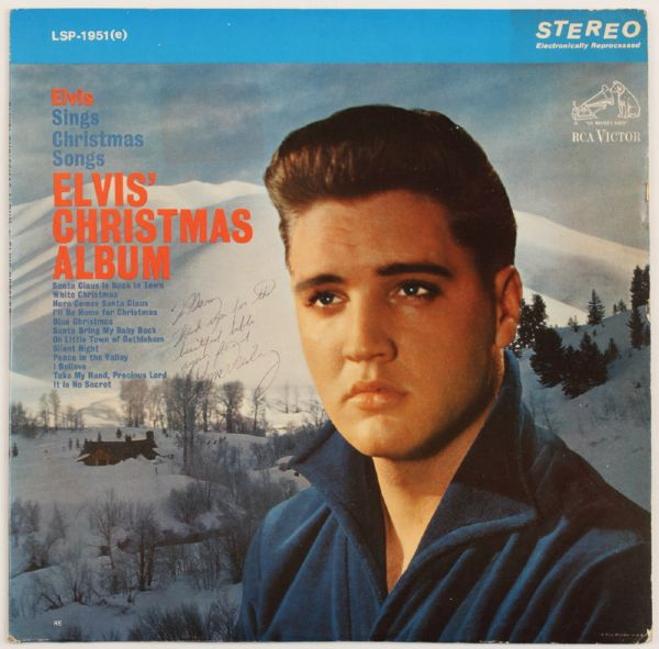Elvis Presley Signed and Inscribed Christmas Album To Gary Pepper