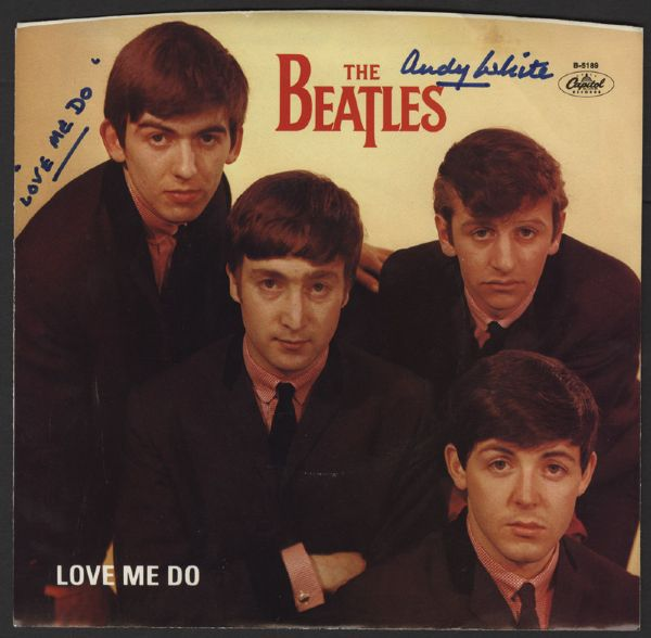 The Beatles Andy White Signed Love Me Do 45 Single
