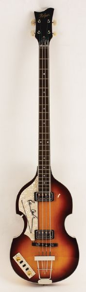 Paul McCartney Signed Hofner Electric Bass Guitar