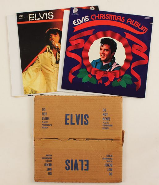 Elvis Presley Mail Order Records With Original Mailing Box