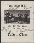 "Beatles Signed ""Twist and Shout"" Promotional Flyer"