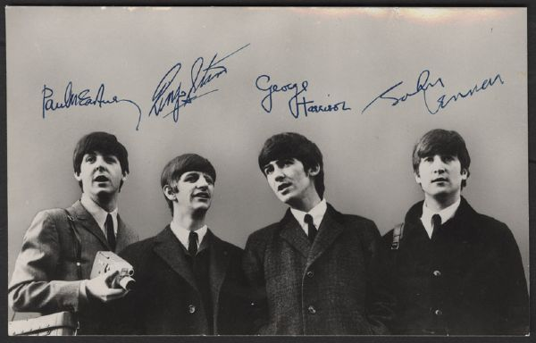 Beatles Original 1964 U.S. Tour Promotional Card