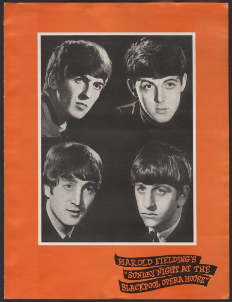 The Beatles Sunday Night at the Blackpool Opera House Program
