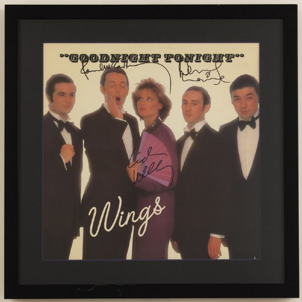 Paul McCartney & Linda McCartney Signed Wings Goodnight Tonight Album