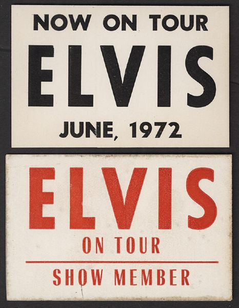 ELVIS ON TOUR Show Member Passes (2)